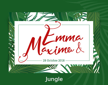 etiquette-personnalisee-champagne-mariage-jungle