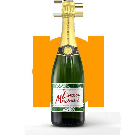 Champagne_mariage_etiquette_personnalisée_jungle
